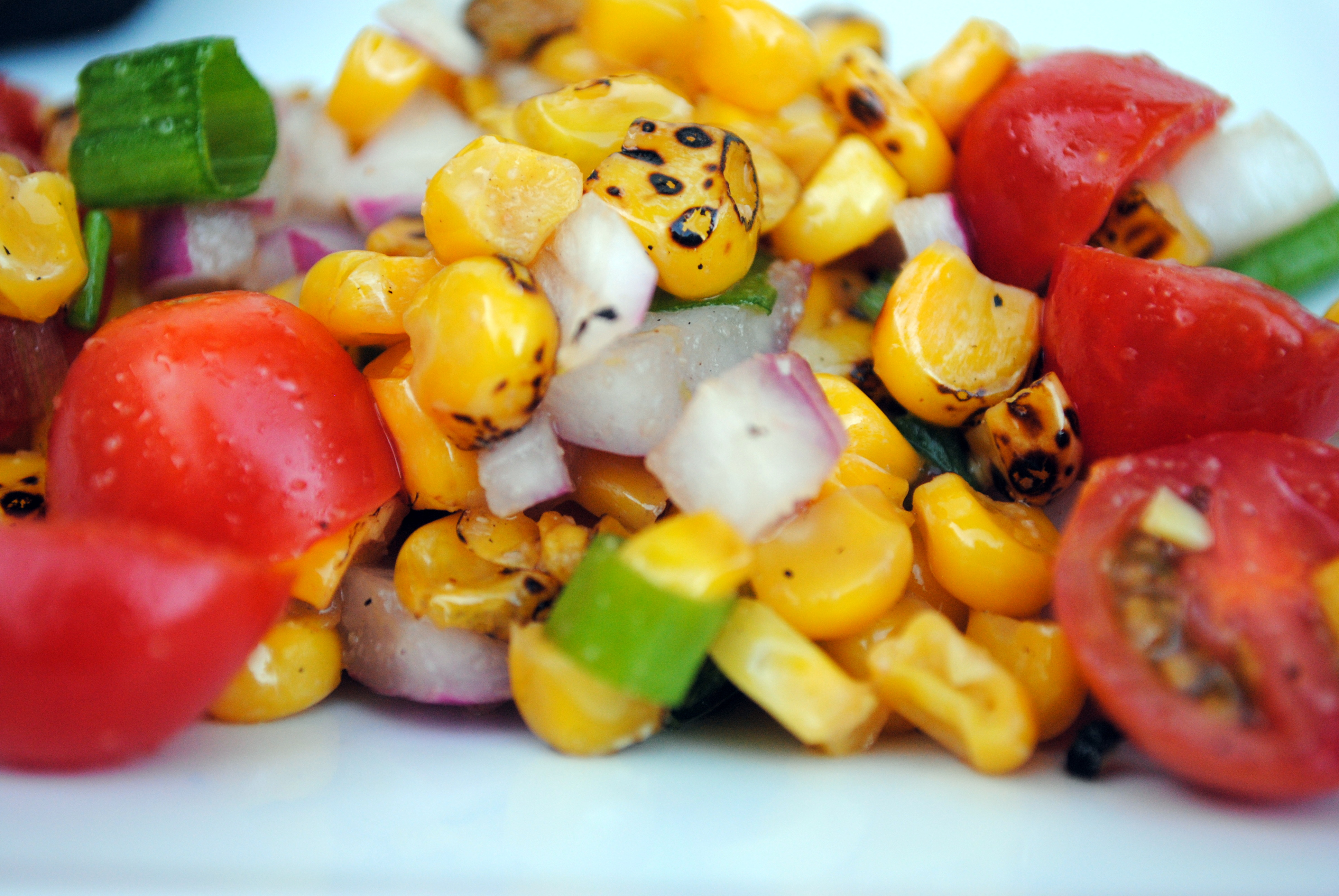 Roasted Corn and Tomato Salad | Clare Cooks!