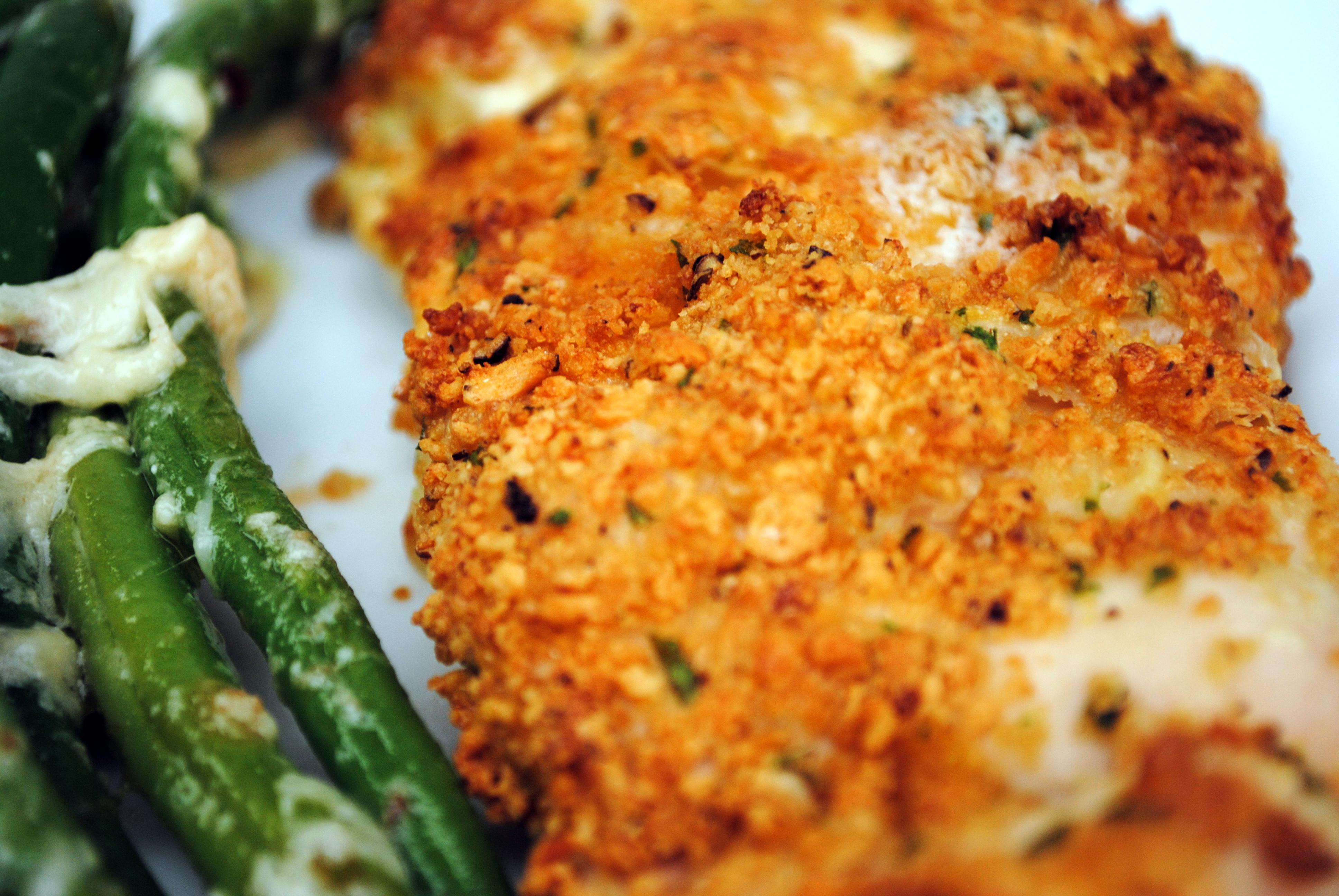 ... Crunchy Garlic Chicken (from Jamie Oliver's Food Revolution , p. 241