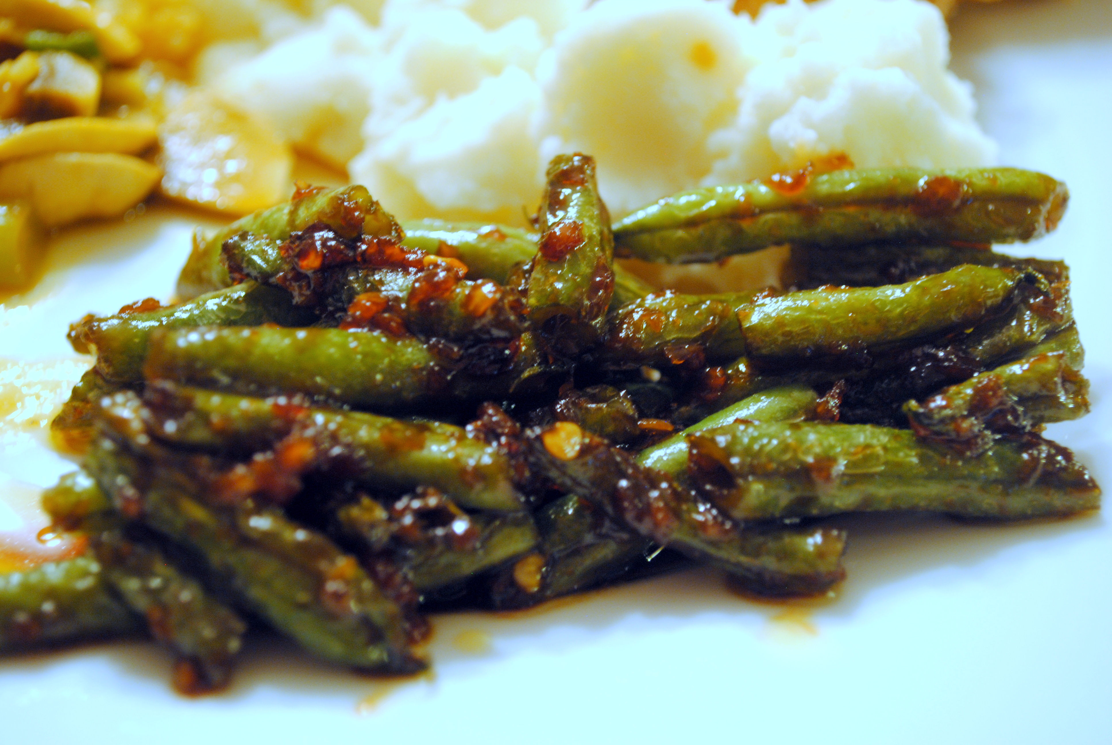 Sweet and Spicy Green Beans | Clare Cooks!