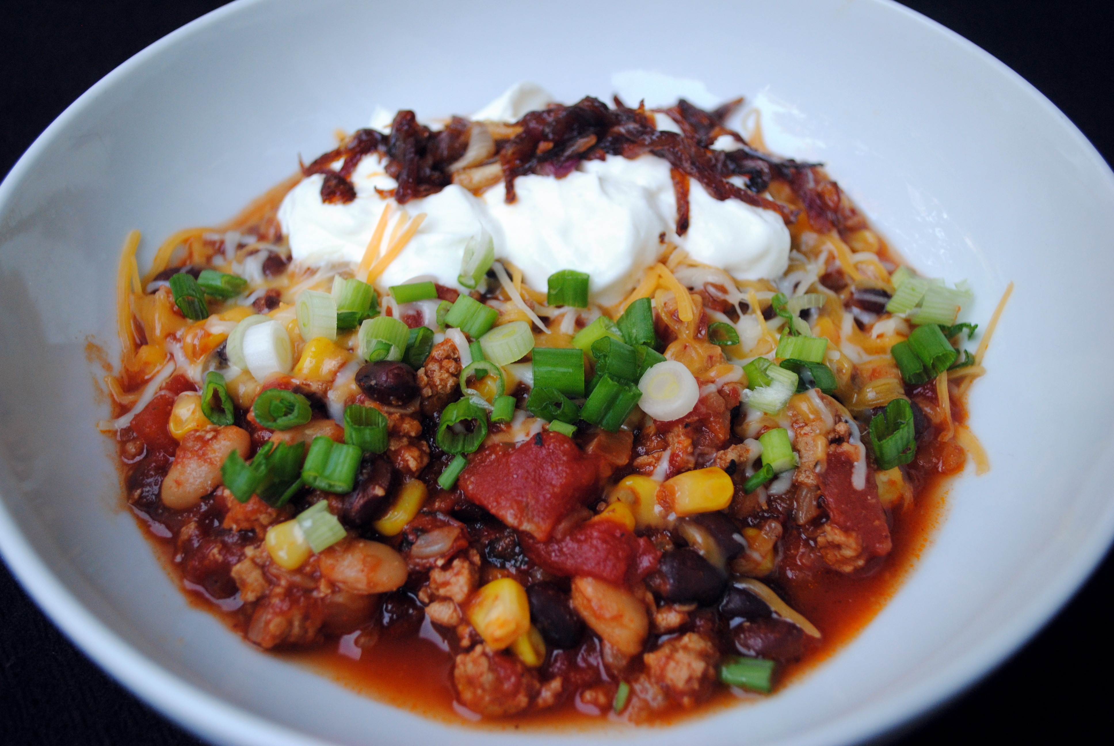Slow Cooker Caramelized Onion  Chipotle Turkey Chili Clare Cooks!
